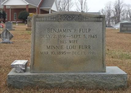 Fulp_BenjaminF_and_MinnieLouFurr_MtCarmel_MtGileadMontgomeryCoNC